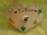 3d Guinea Pig Heart Hutch Run Room Home Sweet Home House Cage Personalised Plaque Sign Any Colour Pet  cavies